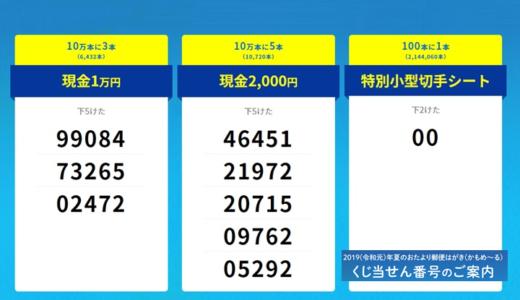 2019(令和元)年「かもめ~る」の当せん番号の決定