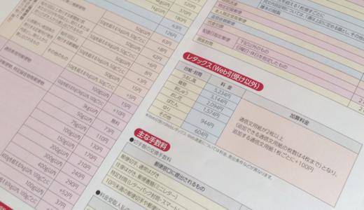 日本郵便の郵便関連サービスおよび国内郵便料金等の新料金早見表